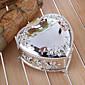 パーソナライズされたギフトの新婦付添人のギフトエンボス花のハート形の亜鉛合金の宝石箱