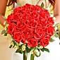 """Cvijeće za vjenčanje Krug Roses Buketi Vjenčanje Polyester / Svila 11,8 """"(Approx.30cm)"""