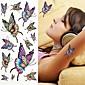 barevný motýl tetování samolepky dočasné tetování (1 ks)