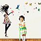 ウォールステッカーウォールステッカー、色の蝶の夢の王女のPVCウォールステッカー