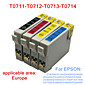 BLOOM®T0711-T0714 Compatible Ink Cartridge For EPSON D78/D92/D120/DX4000/DX4050/DX5000/DX8400 Full Ink(4 color 1 set)