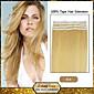 30 až 50 g / balení 16-24inch brazilský panna páska lidský Prodlužování vlasů # 24 pásku v lidských prodlužování vlasů 002
