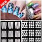 2016 Novi noktiju vinili nepravilnu mrežu oblika žigosanje nail art savjeti manikura matrica noktiju šuplje naljepnice vodič 1pcs