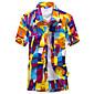 Majica Muškarci,Jednostavno Boho Ležerno/za svaki dan Plaža Vjenčanje Geometrijski oblici Print-Kratkih rukava Kragna košulje-LjetoZelena
