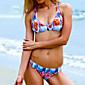 Ženski Bikini - Grudnjak na vezanje - Push-up - Color block - Poliester