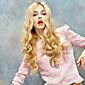 女性のロングボディ波合成毛のかつらブロンドの耐熱性繊維安いコスプレパーティーウィッグの毛