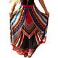 Women's Boho Plaid Blue/Red/Orange Skirts,Boho/Beach Maxi