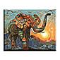Ručně malované Zvíře Moderní / Klasický / Tradiční / Realismus / Středomoří / Pastýřský / evropský styl,Jeden panel PlátnoHang-malované
