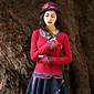 Žene Vintage Izlasci / Plus veličine Regularna Pullover,Crvena / Ljubičasta Vez Okrugli izrez Dugih rukava Pamuk Proljeće / Jesen Srednje