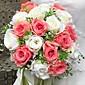 "Cvijeće za vjenčanje Krug Roses Buketi Vjenčanje / Party / Večernji Saten 11.02 ""(Approx.28cm)"