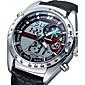 Pánské Vojenské hodinky Digitální Japonské Quartz Kalendář poplach Svítící Kůže Kapela Přívěsek Luxusní Černá Bílá Černá