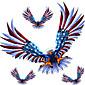 napa vrata rezervni tijelo guma dekoracija naljepnice American Eagle orao Naljepnica set r409