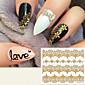 fashion vergulden 3d kantwerk nail stickers