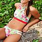 Ženski Bikini-Grudnjak s tankim naramenicamaS cvjetnim printom Križani-Poliester