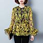 Bluza Žene,Sofisticirano Izlasci Print-Dugih rukava Okrugli izrez-Proljeće Crvena Žuta Srednje Poliester