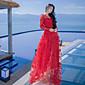 新しい花の妖精のスカートの視点に署名海辺光のスカートのウェディングドレス