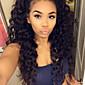 stupeň 9a přírodní černá barva přední krajky lidský vlas paruky přírodní vlna 130% hustoty brazilské panenské vlasy krajka přední paruky s