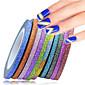 1set 12rolls Nail Art naljepnica Folija Stripping Tape šminka Kozmetički Nail art dizajn
