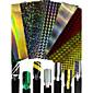 1pcs modni šareni dizajn noktiju umjetnost diy laser linija naljepnica noktiju umjetnost laser svjetlucavo line ukras za noktiju ljepote